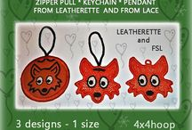 fox lace, leatherette
