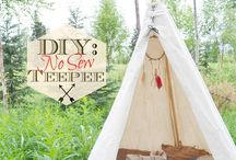 Camping and teepees