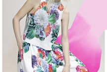 Veronika Maine | Summer 2014 / Summer 2014 has arrived! Balance bold print and colour with feminine pared back sensibility.