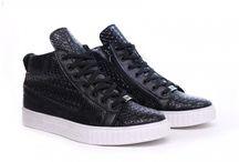 Zwarte Python Sneaker, Krokodil Zwarte Sneaker, Snake Print Sneaker