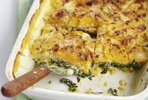 Potato sweet and spinach bake