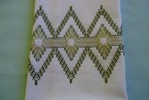 Swedish weaving / Huck embroidery