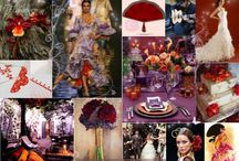 Wedding - P and M / Event design and inspiration for Pragya and Michael's fantasy garden wedding in violet, crimson, orange and peacock blue.