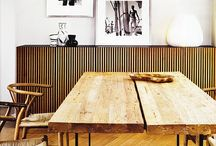 Wood Is Good / Whether rustic and grainy or sleek and polished, I love the warmth of wood.