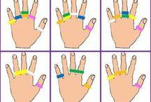 manos y gomas