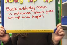 Library Top Tips at the Get Involved Fayre! / We asked you to share your Library top tips using our #libraryphotobooth at the Get Involved Fayre, here's what you said!