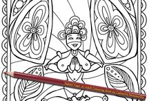 Naked Yoga: an Adult Colouring Book by Catherine Nessworthy / Take a sneak peek inside the Naked Yoga adult colouring book, now available on Amazon (click the link on any pin)  Book includes 30 hand-drawn, artistic designs with plenty of opportunities to add your own shading, patterns & textures. Have fun & relax with this unusual coloring book for adults.
