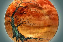 intarsja drzewo