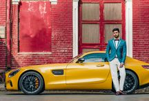 SS HOMME X Mercedes Benz / The iconic Mercedes Benz is a reigning contender in the luxury car segment. In this space, the car is paired with a signature SS HOMME ensemble complementing the sharp features of the car.