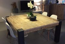 table carrée bois