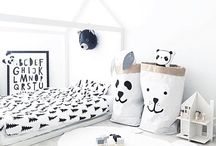 Monochrome nursery rooms