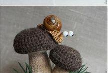 ślimaki - szydełko