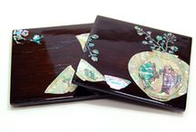 Mother of Pearl Tableware / Tableware inlaid with mother of pearl