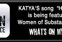 WOMEN OF SUBSTANCE RADIO / KATYA'S SONG HEY SISTER  FEATURED ON WOMEN OF SUBSTANCE RADIO / by Katya OF Katyamusic.com