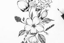 Konturowe kwiaty