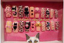 Cat nails / Nail art / by Estheticsbyjason_