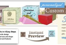 Gift Boxes / Personalize and PRINT your own labels, favor tags, bottle labels, wedding invitations, note cards, 6 pack carriers with your own text, color, texture photos