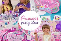 Princess Party Ideas / Treat your little princess to a birthday party that's fit for royalty with our sweet elegant Princess party theme. Roll out the princess carpet and decorate your palace with our princess props, banners, party games and sparkle printed tableware that's fit for every little princess.