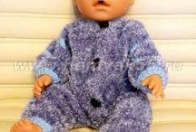 Вязаные наряды для кукол