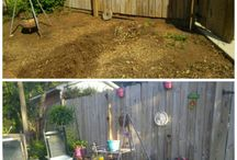 "Idea's For Small Garden Makeover's / Container gardens, ideas for gardens, & repurposed ""junque"""