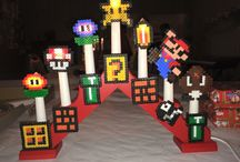 Hama beads christmas super mario candels