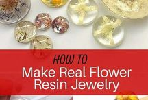 how to make real flower resin jewelry