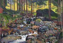 Ferdinand Hodler, Berge + Bäume