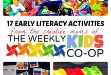Applicious Early Literacy Ideas / ideas for fostering literacy in the early years. Perfect for toddlers to age 6.