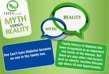 Myths v/s Reality / There are many Myths about Diabetes that make it difficult for people to believe some of the hard facts. These Myths can create a picture of Diabetes that is not accurate. In our Myth v/s Reality section we will try to burst some Myths about Diabetes with actual Reality.