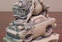 Esculturas rat fink y compañia