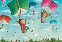 Il·lustracions i imatges / Il·lustracions i imatges sobre la lectura, llibres, biblioteques...