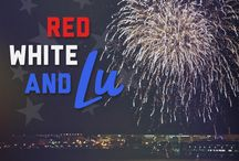RED WHITE & LU / One of our favorite accessories is patriotism.