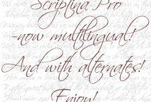 花嫁DIYに役立つ無料フォントまとめ / プロップス作りやウェルカムサイン、ガーランドなどに役立つフォントをまとめました。全て個人利用なら無料で使えるものばかりです。