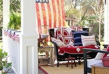 OLD GLORY / Patriotic homes and flags galore. God Bless the U.S.A. / by Sugar Lump Studios