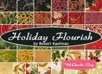 "Holiday Flourish 8 by Robert Kaufman / ""Holiday Flourish 8"" by Peggy Toole for Robert Kaufman Fabrics"