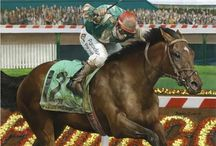 Race Horses In Art 09A- Works by Robert Clark / Because this amazing artist deserves a folder all of his own.