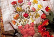 Quilts appliqué Jacqueline Morel / Les quilts appliqué de Jacqueline Morel sur l'on a découvert dans plusieurs parution de Marie-Claire Idées