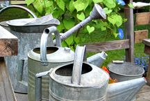 Galvanised pots for gardening! / All things galvanised - love it!!