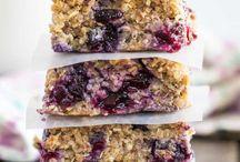 Blueberry quinoa bars
