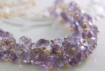 Amazing amethyst sparkly jewelry