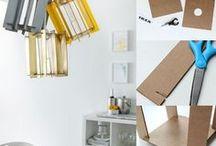 Lampe en carton recyclé