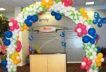 """Balloon Arches / Balloon arches, a mainstay of balloon decorations. From classic designs to one-of-a-kind themed designs, the balloon arch says """"the action is here""""."""