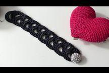 Häkelanleitung Armband/Kette glamouröser Mäander - YouTube