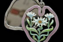 Meyle & Mayer Enamel - Vintage Jewelry / Meyle & Mayer Vintage Enamel Jewelry, pins, pendants, necklace, bracelet charms. Meyle and Mayer of Pforzheim, Germany. Late Arts and Crafts/early Art Nouveau period. Also searched Mayle & Meyer.