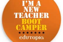 New Teacher Boot Camp / As part of Edutopia's Summer Professional Development Series, this free 5 week workshop on web 2.0 tools for new teachers was offered from July 5th-August 5th, 2011! Visit the wiki to see the portfolios produced by 100's of teachers world-wide. (Week 4 is missing as the program, Wetoku, is now defunct as of Fall 2011.) / by Lisa Dabbs at TeachwithSoul