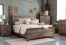 Modern Farmhouse / Distressed rustic finishes mixed with industrial tonal metals for a modern farmhouse look.
