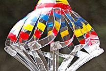 objets à vent et plastique