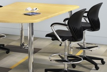 Power Up / Integrating outlets into tables and seating easily allows technology in your design environment. Falcon offers many solutions in training tables and seating collections.