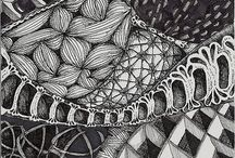 Zentangles / Completed Zentangles and Zentangle-inspired art.
