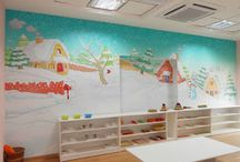 play school painting Indore / School classrooms design and decoration